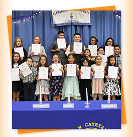 Students in Elementary Honor Society