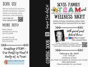 SCV35 Family STEM and WELLNESS Night flyer page 1