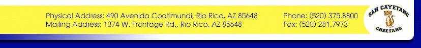 Physical Address: 490 Avenida Coatimundi, Rio Rico, AZ 85648  Phone: (520) 375.8800