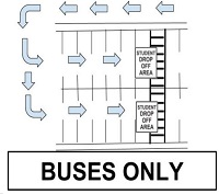 Diagram of Student Drop Off Areas