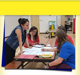 San Cayetano Elementary School teachers working together
