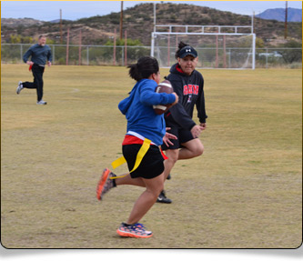 playing flag football