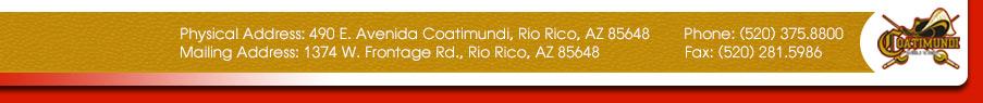 490 Avenida Coatimundi, Rio Rico, AZ 85648  Phone: (520) 375.8800  Fax: (520) 281.5986