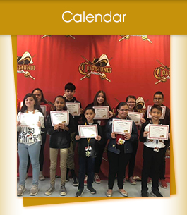 Calendar / group of students