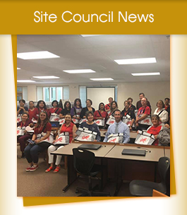 Site Council News