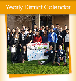 Yearly District Calendar