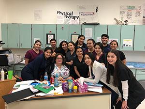 Sharon Martinez and nursing students