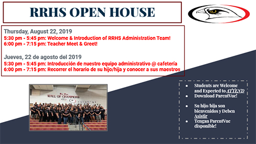 Please join us for our open house on Thursday, August 22, 2019