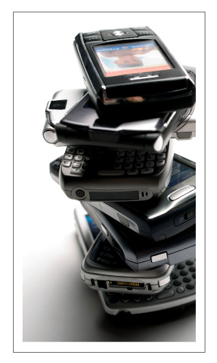 Stack of Mobile Phones