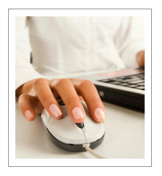 Close-up of Hand Over Computer Mouse