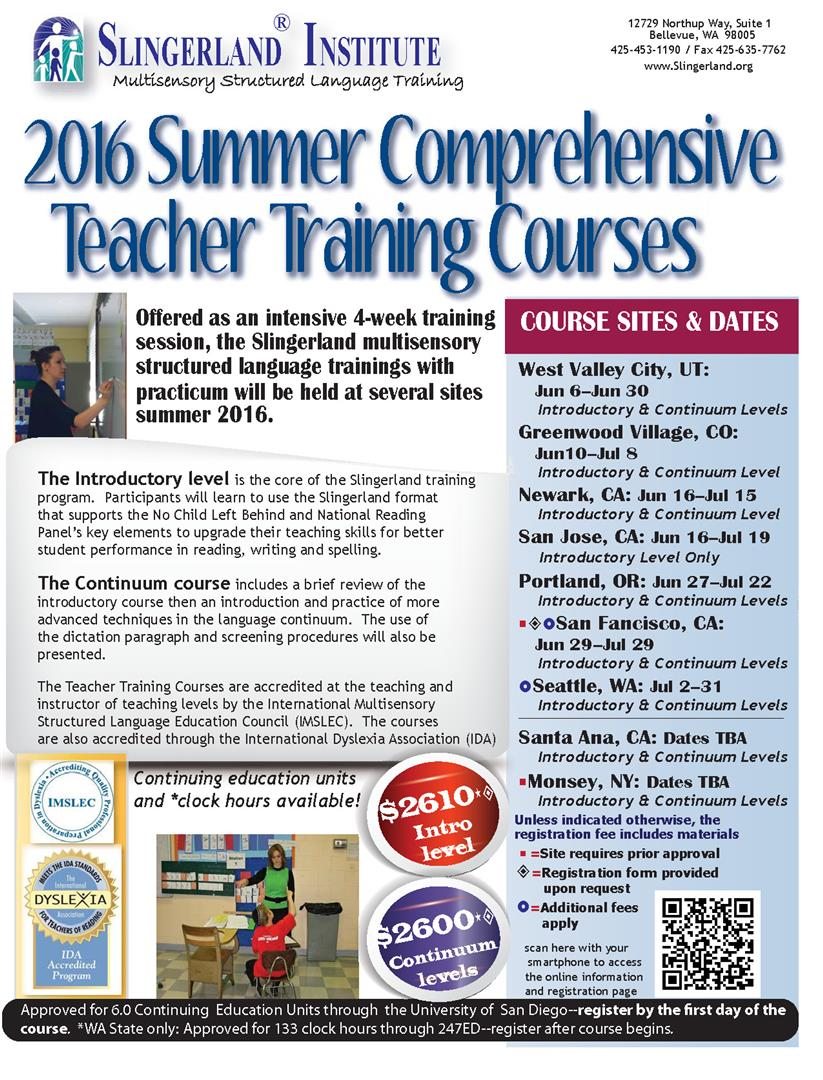 Slingerland Summer Training Flyer