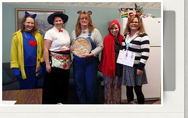 teachers in costumes