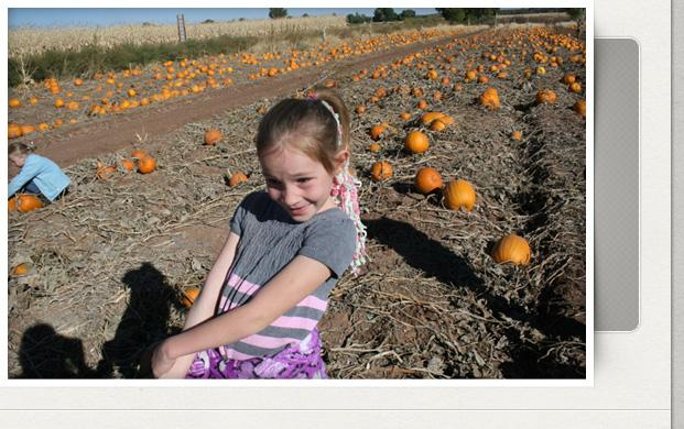 girl in pumpkin patach