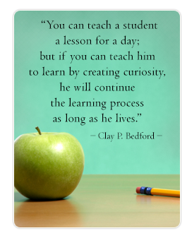 Clay P. Bedford Quote, Green Apple and Pencil