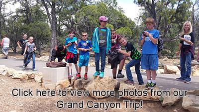 students at Grand Canyon