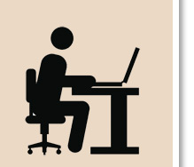 person at desk