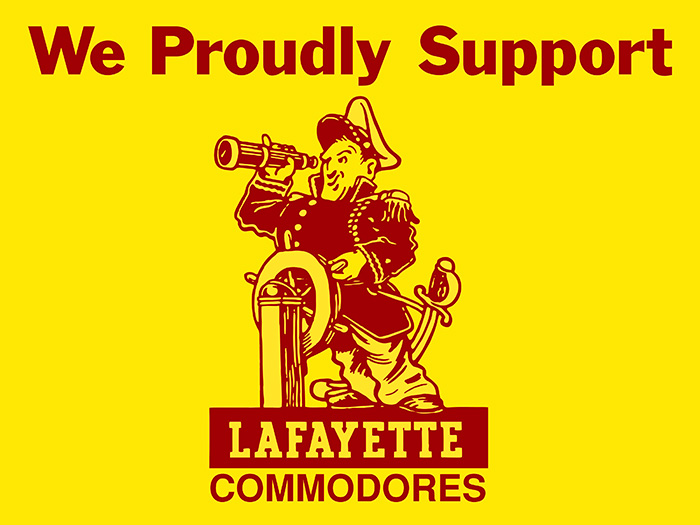 We Proudly Support Lafayette Commodores
