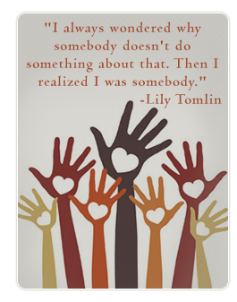 Lily Tomlin Volunteer quote and picture