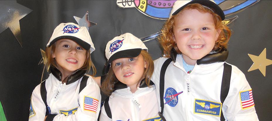 Kids in Nasa uniforms