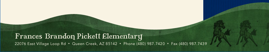 22076 East Village Loop Rd, Queen Creek, AZ 85142 Phone:480-987-7420 Fax: 480-987-7439