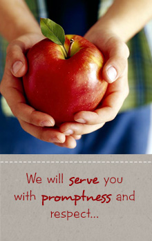 We will serve you with promptness and respect...