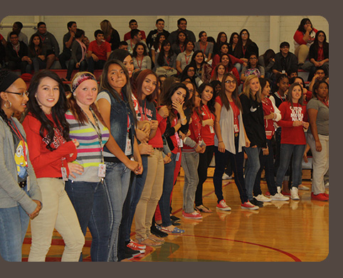Group of students at assembly