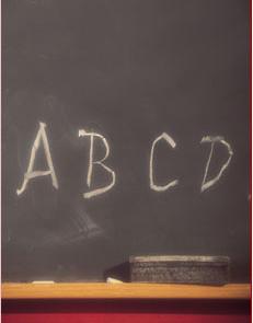ABC's on chalk board