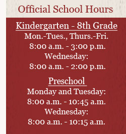 Official School Hours
