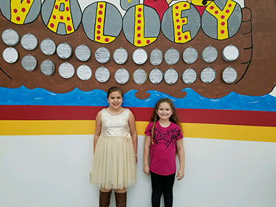 3rd Grade-Charlize Roth and Emily Glore.