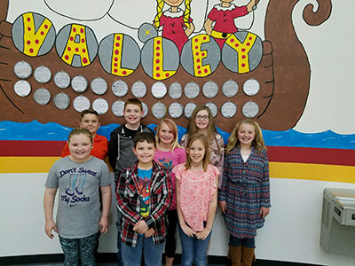 4th Grade-Front Row: Haylee Moore, Ryan Cole, Ava Waldrop, and Back Row: Drew McClain, Garrett Coleman, Perswaya Brooks, Makenna Jenkins, Olivia Boyer, and not pictured Walter Strother.