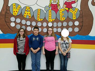 5th Grade-Jera McClain, KJ Tiefenauer, and Morgan Merlenbach.