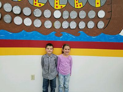 Kindergarten-Hayden Francis and Hallie Abney.