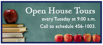 Open House Tours every Tuesday at 9am. Call to schedule 456 1003