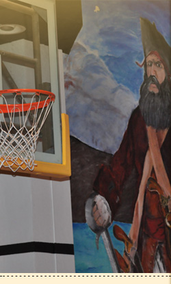 Basketball and pirate