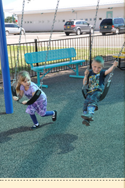 students swinging