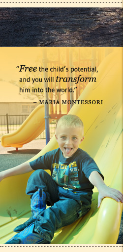 Maria Montessori Quote, Smiling Girl