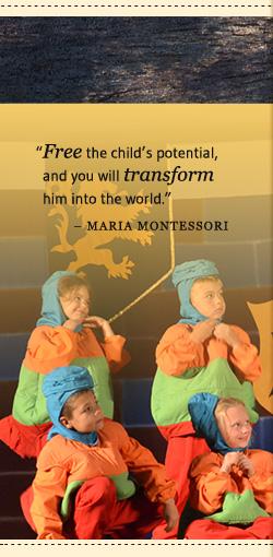 Maria Montessori Quote, children in costume