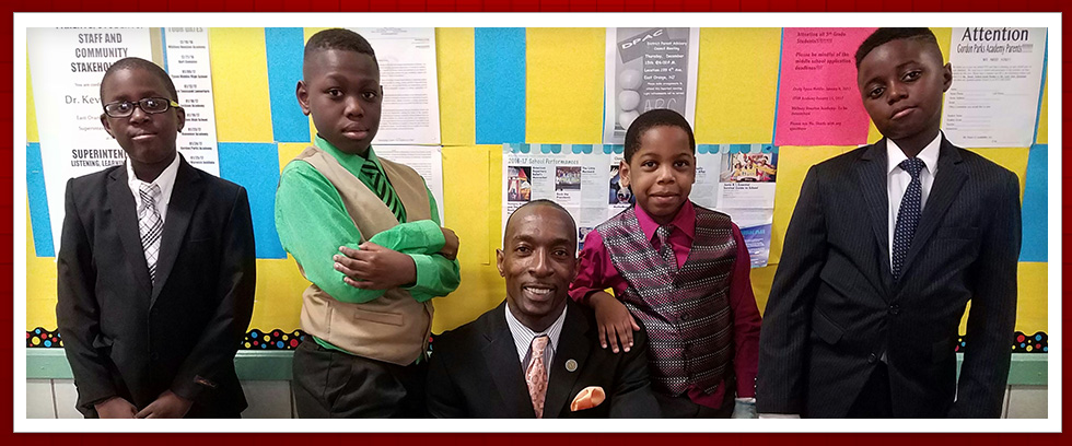 Gordon Parks Academy Students Dressed for Success with Dr. West