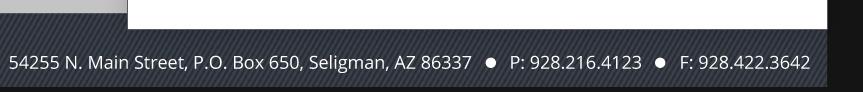54255 N. Main St. PO Box 650, Seligman, AZ 86337