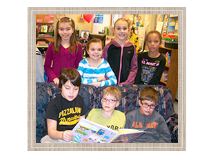 Students Smiling and Reading
