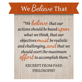 Excerpt from PASD Philosophy