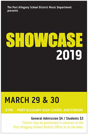 Music Department presents Showcase 2019
