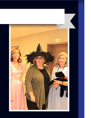WRLS staff dressed up for Halloween
