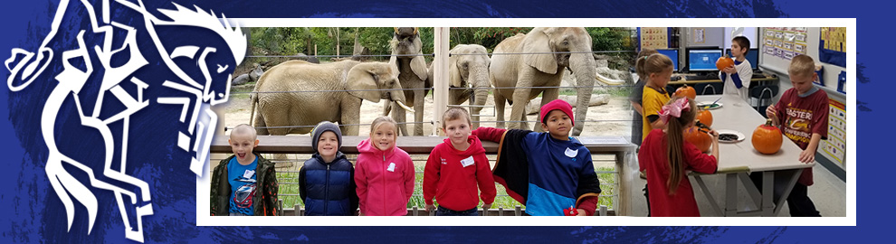 Western Reserve Elementary School students working on projects in the classroom and at the zoo