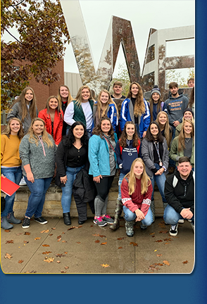 High school students on PSU visit