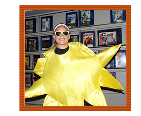 Smiling Student Dressed in Sunshine Costume