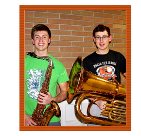 Smiling Band Students with Instruments