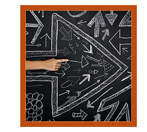 Chalkboard Arrows with Pointing Hand to the Right