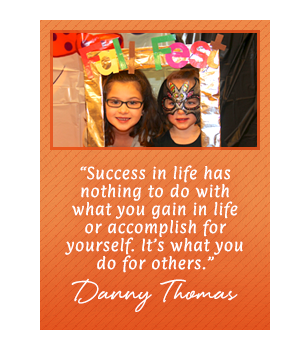 Success in life has nothing to do with what you gain in life... Danny Thomas