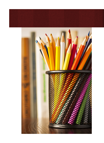 Pencil Jar Filled with Coloring Pencils